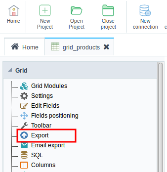 Setting the Group by level in PDF exports of the Grid chart